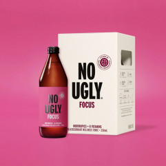 "New Zealand ""NO UGLY"" Wellness Tonic Drink - FOCUS (Nootropics+B Vitamins) Blackcurrant Flavor 250ml"