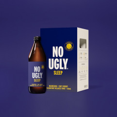 "New Zealand ""NO UGLY"" Wellness Tonic Drink - SLEEP (Magnesium+Tart Cherry) Passionfruit Flavor 250ml"