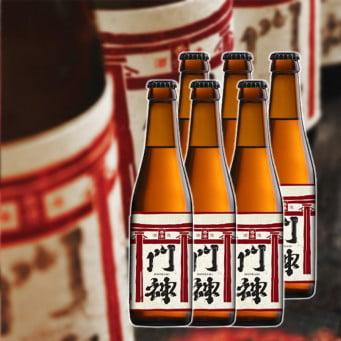 MOONZEN Monkami Rice Lager Hand-crafted Beer 330ml (6 bottles)