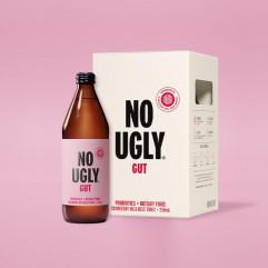 "New Zealand ""NO UGLY"" Wellness Tonic Drink - GUT (Probiotics+Dietary Fibre) Cranberry Flavor 250ml"